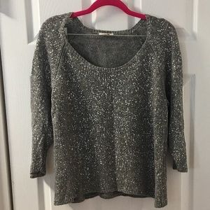 Sparkle silver/gray Eileen Fisher Sweater, XL
